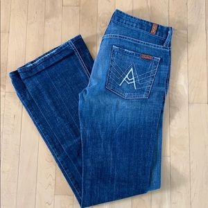 7 for all Mankind white A pocket sz 27